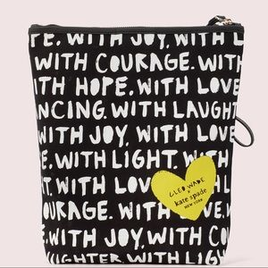 cleo wade kate spade limited edition phrases pouch